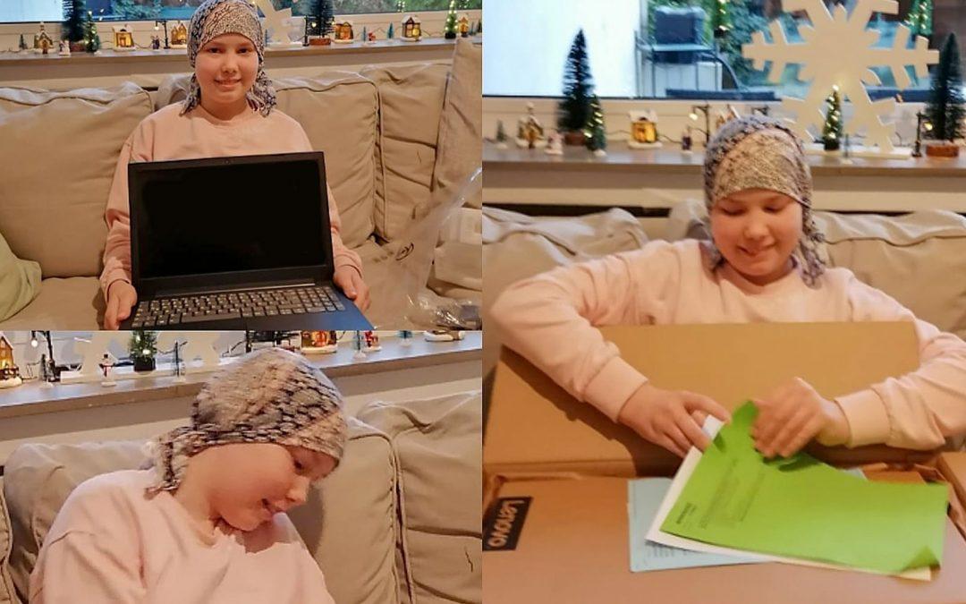 Ein Laptop für Alana