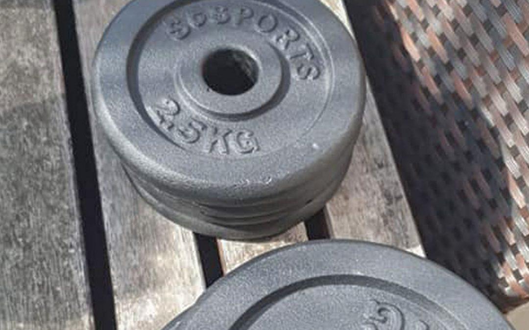Gewichte für den sportbegeisterten Tobias