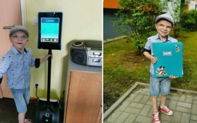 Unser Lernroboter schenkt auch Lionel Freude